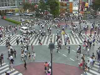 Crossover camera before the Shibuya station