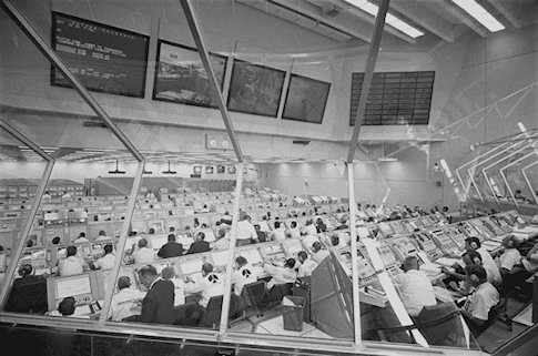 Engineers Working in the Launch Control Center Preparing for the Launch of Apollo 11