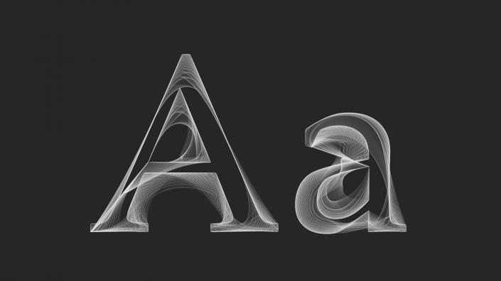 Font outline animation